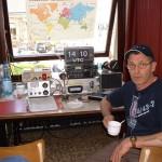 La station décamétrique avec ON4CN en pose café